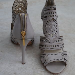 Aerin Lauder Lia sandals heels festival 9 taupe